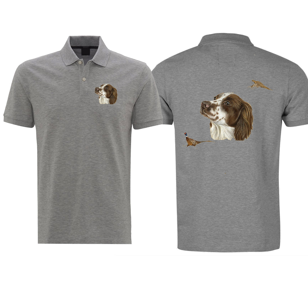 Brown Spaniel Mens Polo Shirt