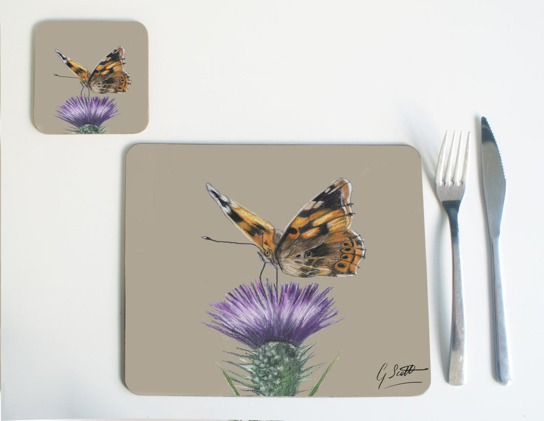 Butterfly On Thistle Placemat