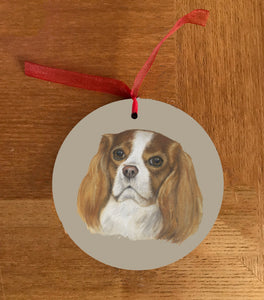 Cavalier King Charles Spaniel Christmas Hanging Decoration