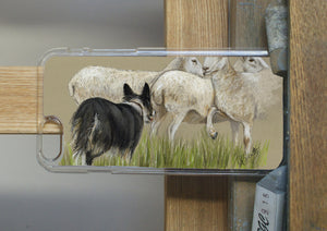 Collie Herding Sheep Phone Case