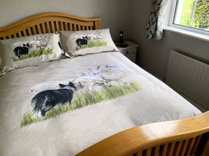 Cotton Sheep and Collie Duvet Cover & 2 Pillow Cases