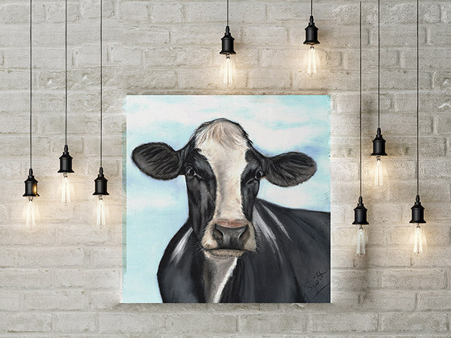 Friesian Cows Head Limited Edition Canvas Print