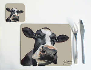 Friesian Cow Head Placemat
