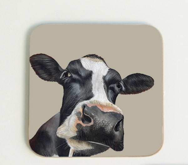 Friesian Cows Head Coaster