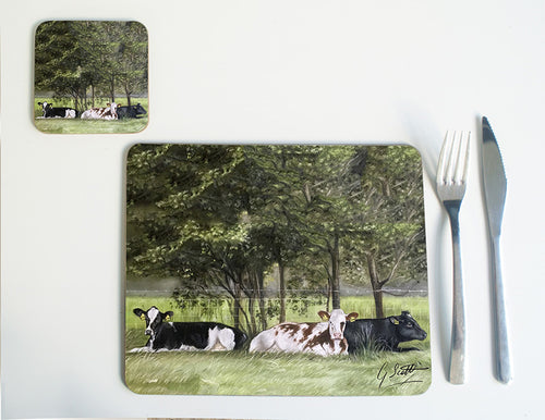 Cows Lying in Grass Placemat
