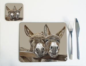 Donkeys over Gate Placemat
