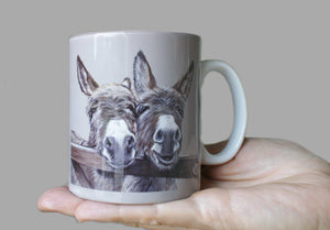 Donkeys over Gate Mug