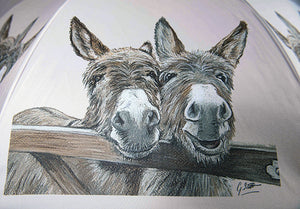 Donkeys Over Gate Umbrella