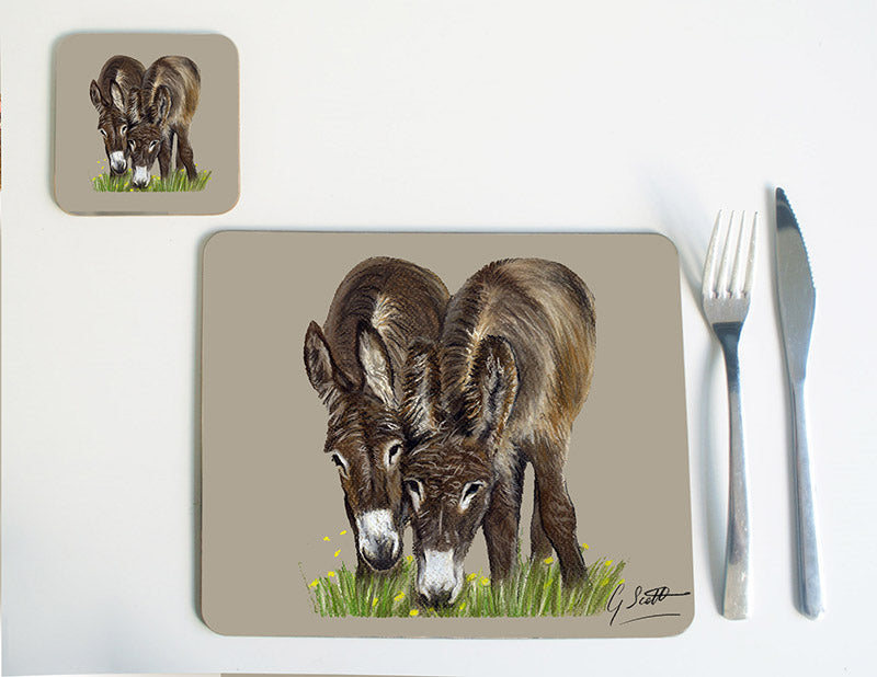 Donkeys Grazing Placemat