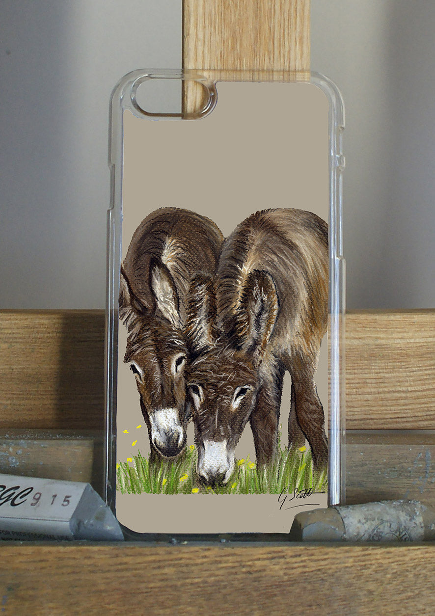 Donkeys Grazing Phone Case