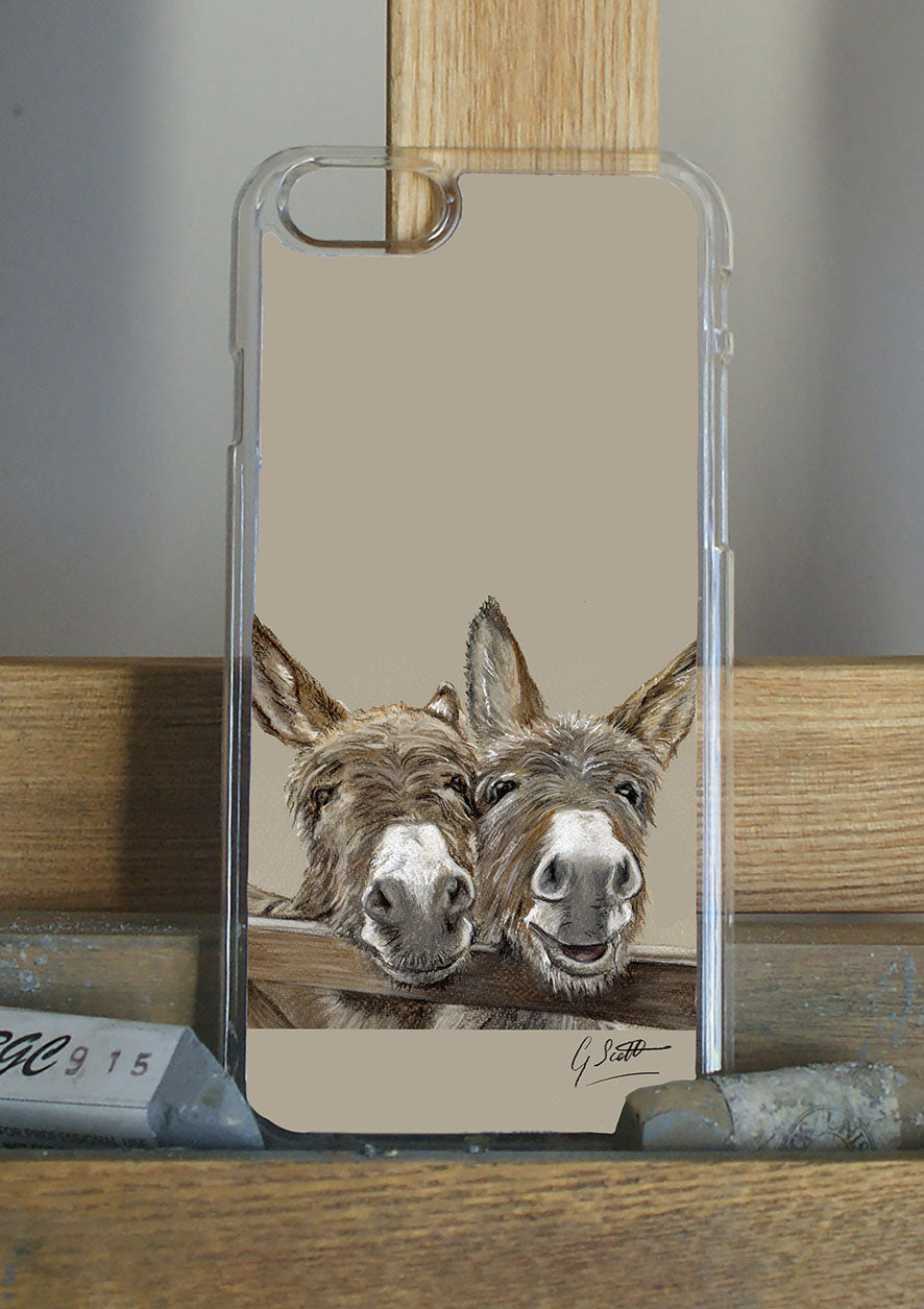 Donkeys Over Gate Phone Case
