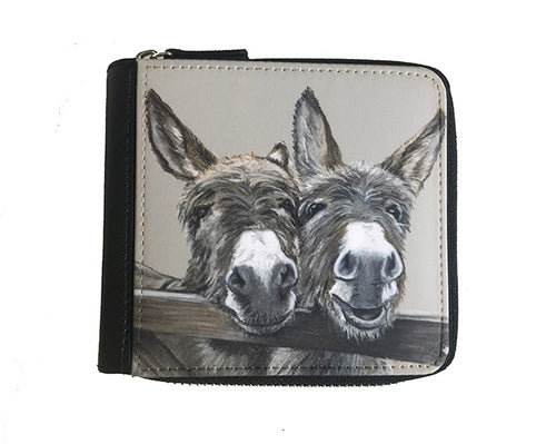 Small Donkeys Over Gate Purse