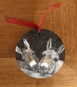Donkeys Over Gate Hanging Decoration