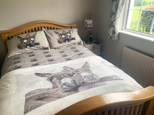 Cotton Donkeys Over Gate Duvet Cover & 2 Pillow Cases