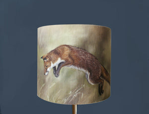 Fox Leaping Lampshade