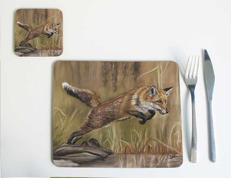 Fox Leaping over Water Placemat