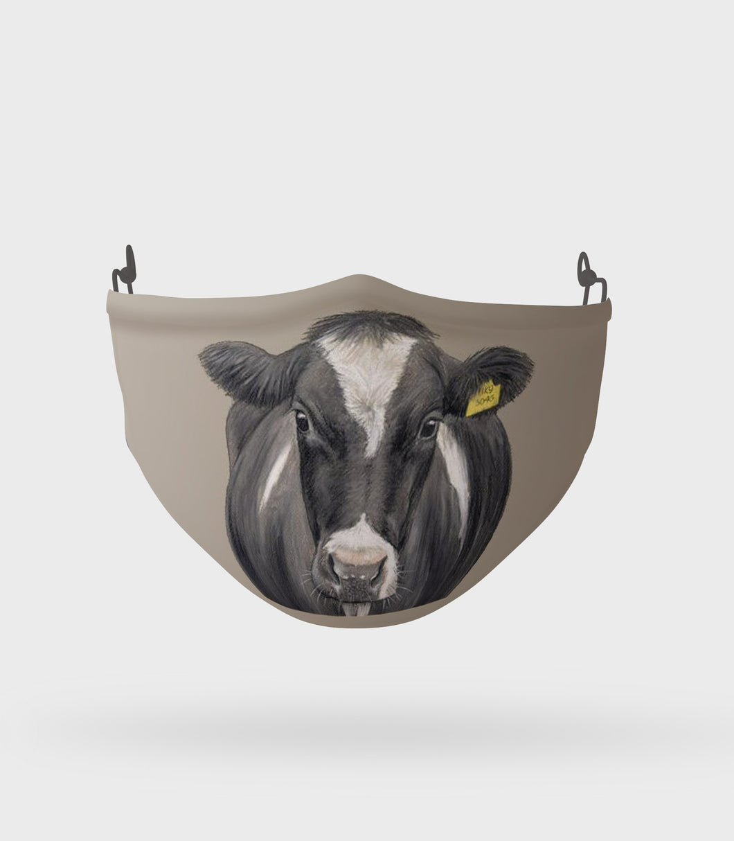 Friesian Cow Face Mask