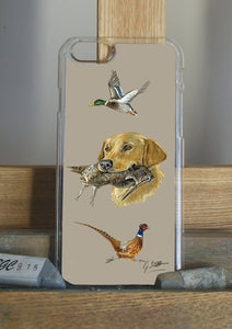 Golden Labrador With Mallard Phone Case