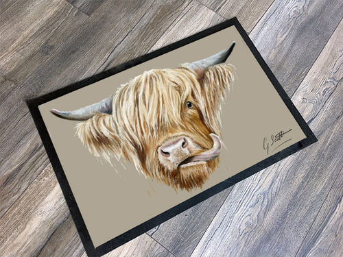 Highland Cow Floor Mat