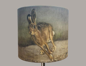 Hare Running with Background Lampshade