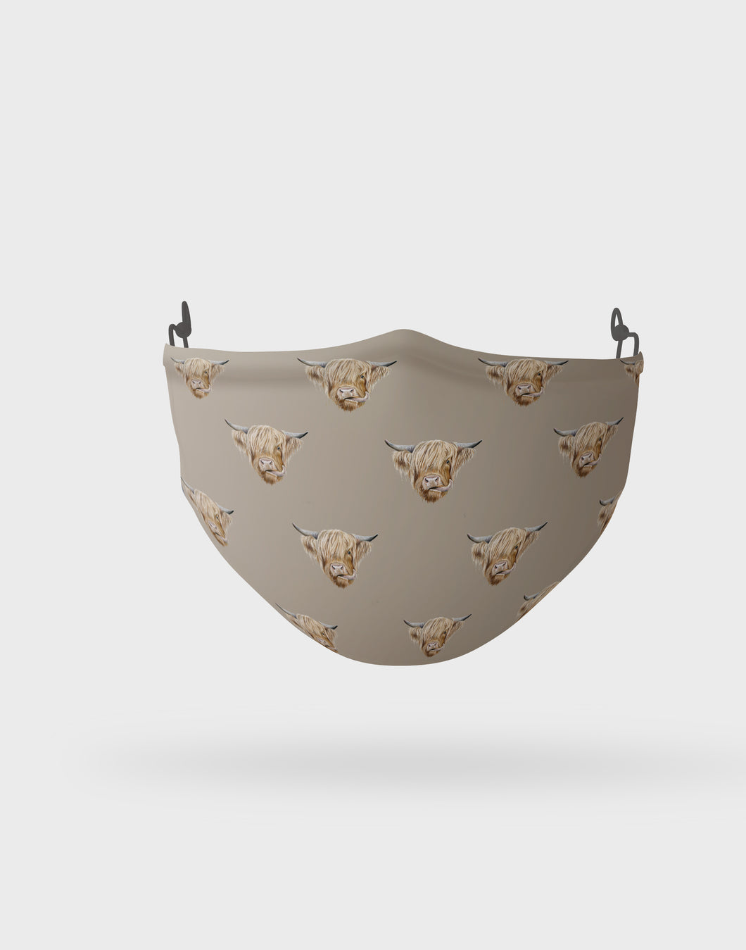 Highland Cow Pattern Face Mask
