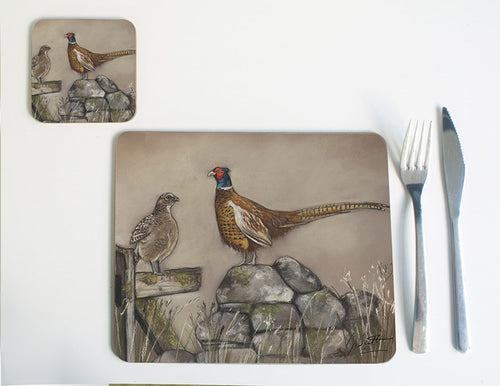 Hen and Cock Pheasant Placemat