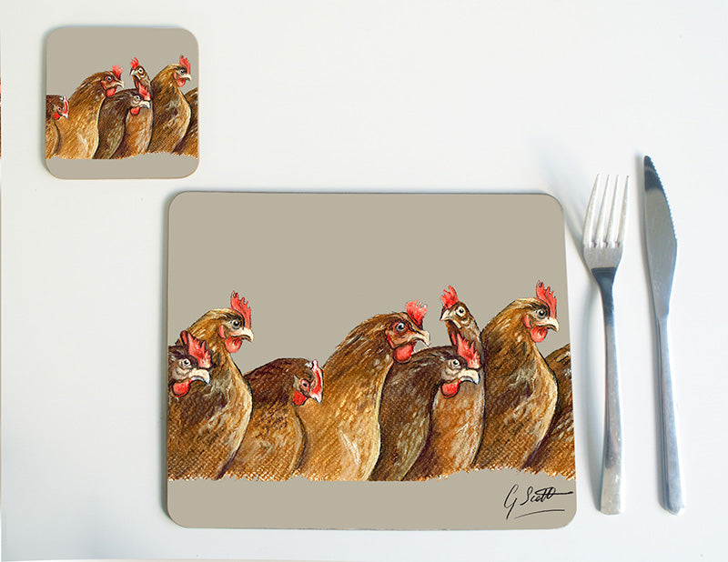 New Row of Hens Placemat