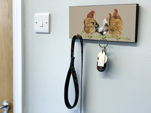 Trio of Hens Key Holder
