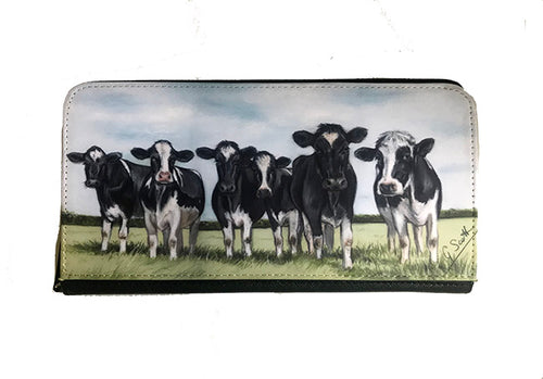 Herd Of Friesian Cows Zipped Purse