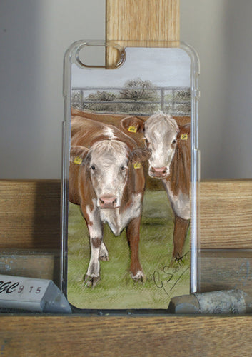 Hereford Cattle Phone Case