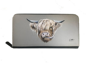 Highland Cow Zipped Purse