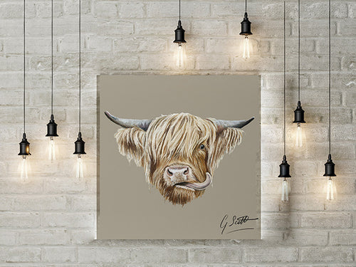 Highland Cow Limited Edition Canvas Print