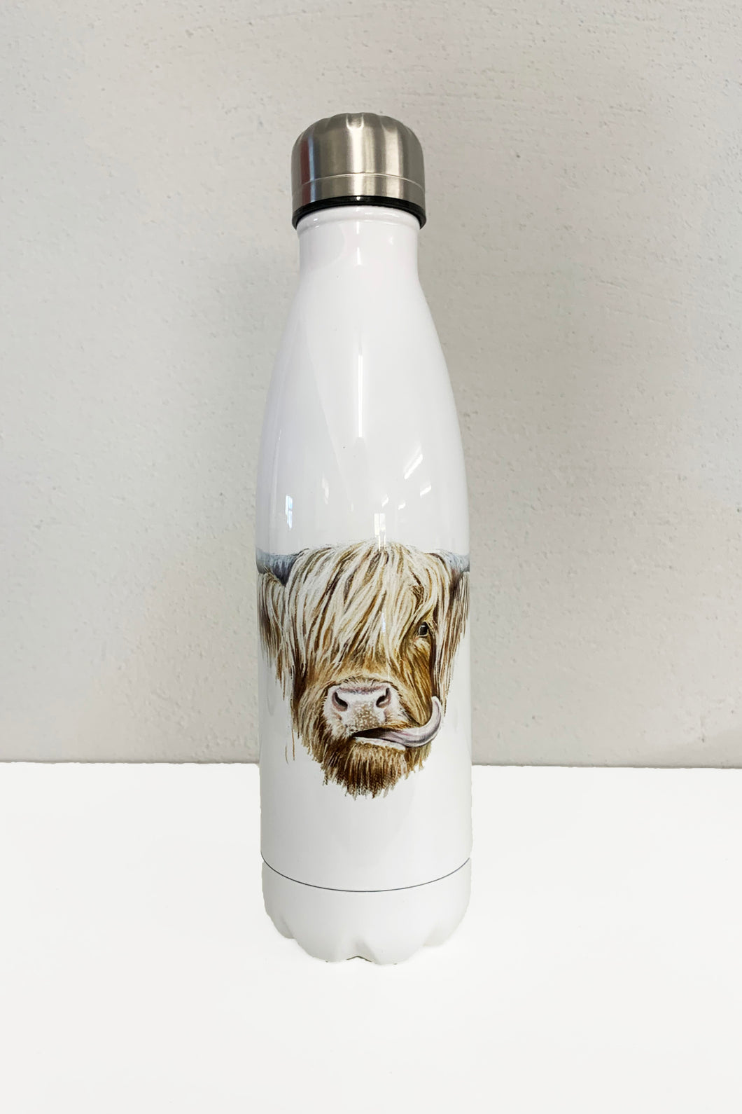 Highland Cow Water Bottle Flask