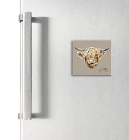 Highland Cow Square Magnet