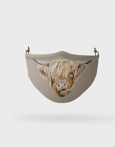 Highland Cow Face Mask