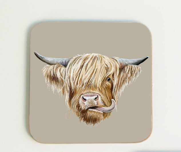 Highland Cow Coaster