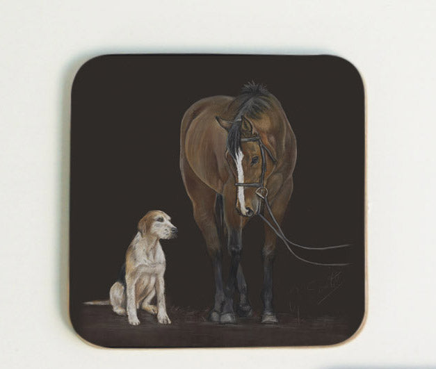 Horse and Hound Coaster