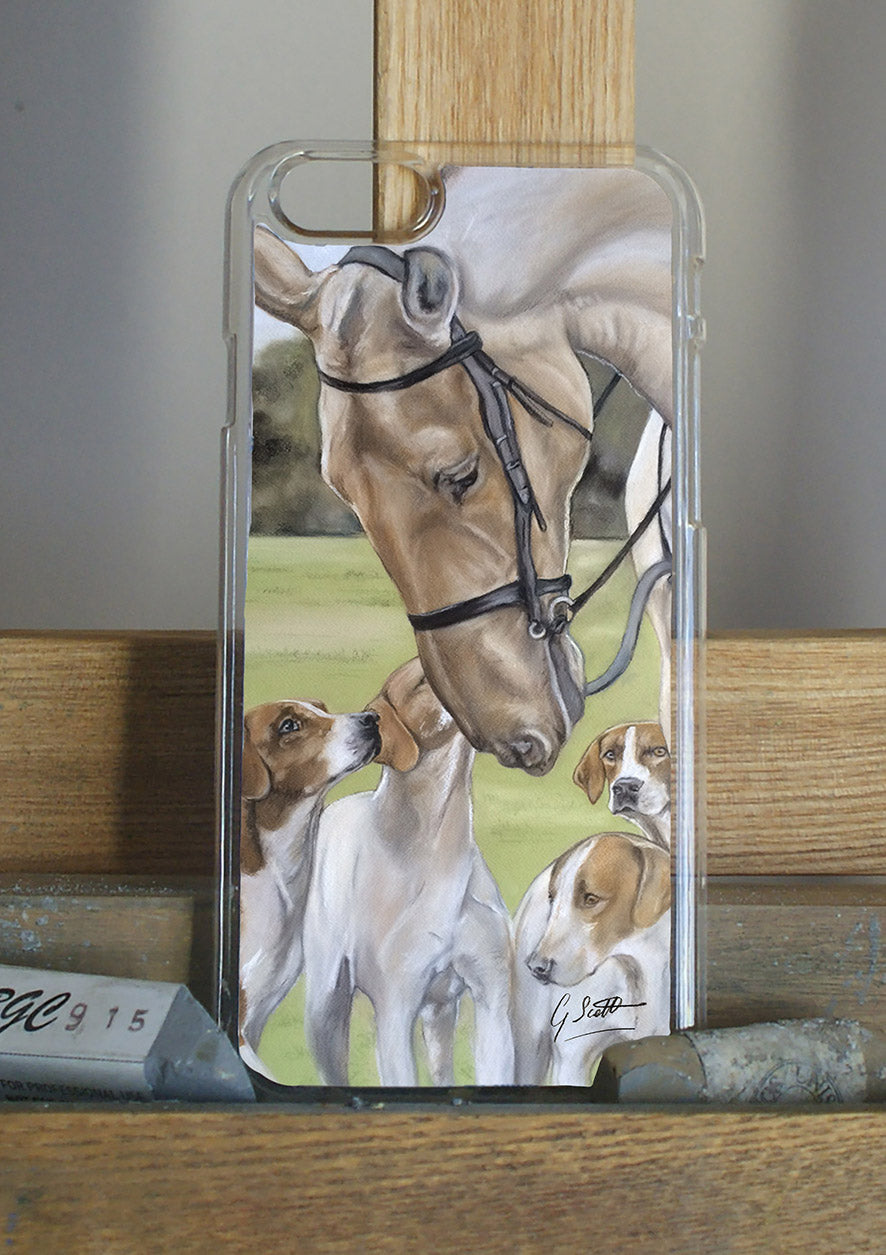Horse And Hounds Hunting Themed Phone Case