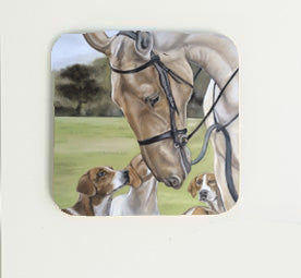 Horse and Hounds Coaster