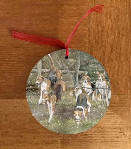 Hounds Hunting Hanging Decoration