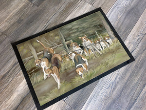 Hunting Hounds Floor Mat