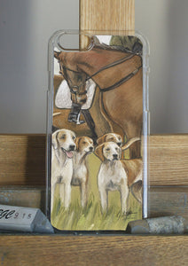 Horse And Hounds Hunting Phone Case