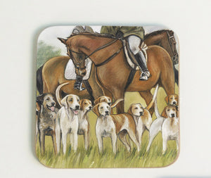 Hunting Scene with Horses Coaster