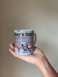 Tractor Ploughing Farming Themed Father's Day Mug