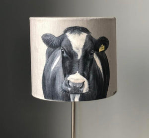 Friesian Cow With Tag Lampshade