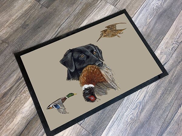 Black Labrador Floor Mat