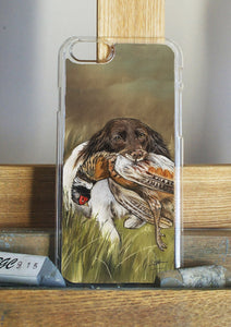 Spaniel with Pheasant Hunting Themed Phone Case