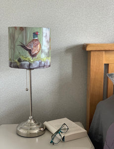 Pheasant On Wall Lampshade