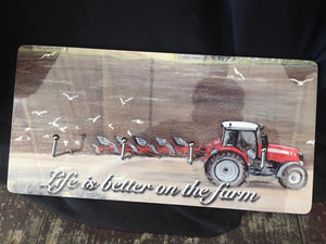 Farming Scene Key Holder
