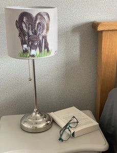 Donkeys Grazing Lampshade